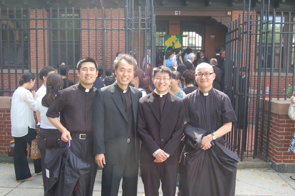 Fr. Dominic Jung, Fr. Kwang Lee, Seminarian Chris Bae, Seminarian Jiwan Yoon