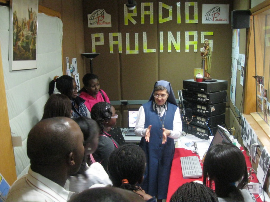 Sr. Maria Ruth Reyes, FSP talks to the youth about her Radio program