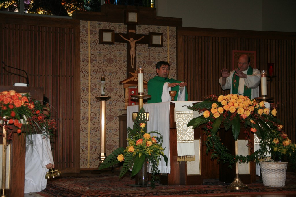 Fr. Tinh and Fr. Michael at the consecration