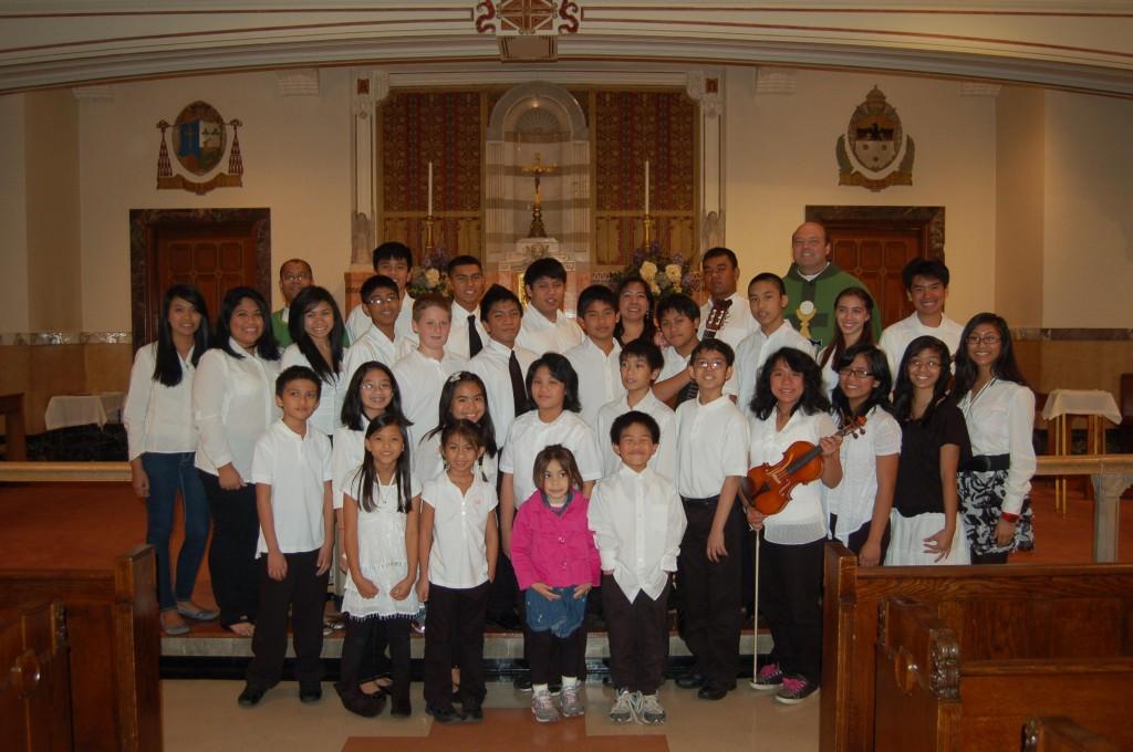 Youth Choir with Fr. Michael Harrington