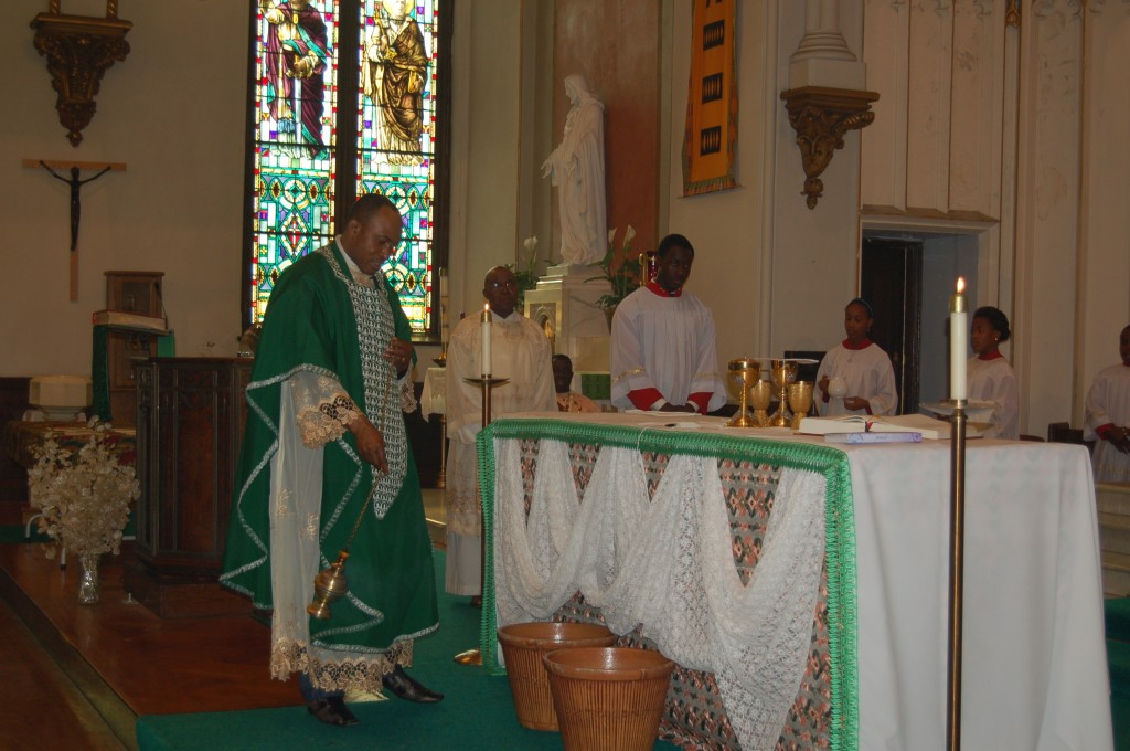Fr. Jude incensing the Altar of the Lord