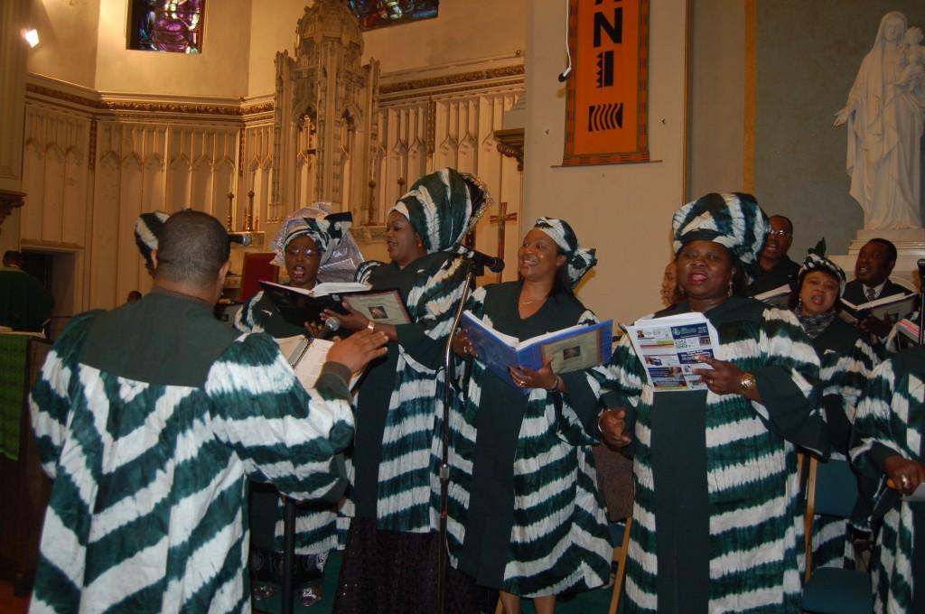 Nigerian Choir energizing the whole church