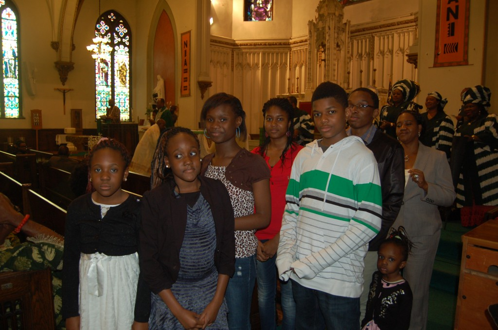 Some young people present at the Mass