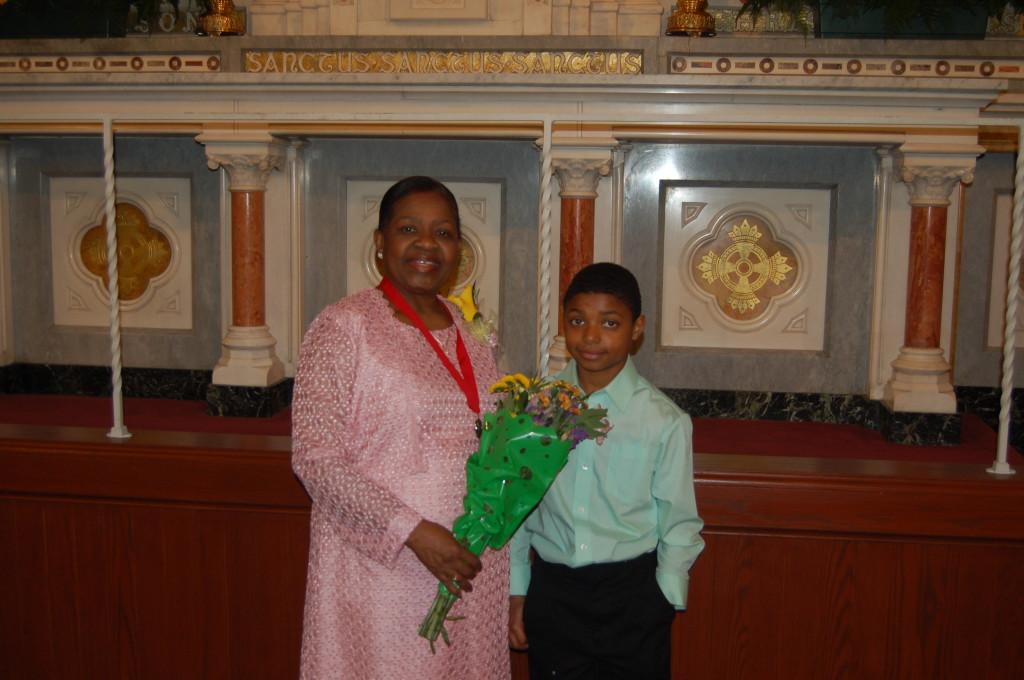 Bernadette Obas and her grandson