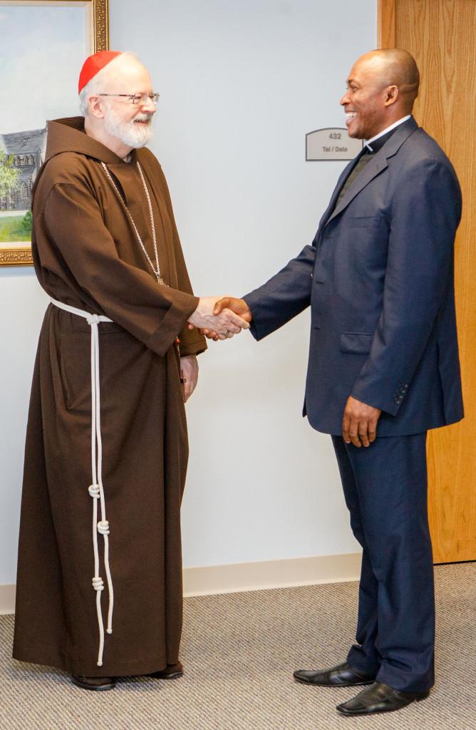 Fr. Jude Osunkwo visiting Cardinal Sean O'Malley