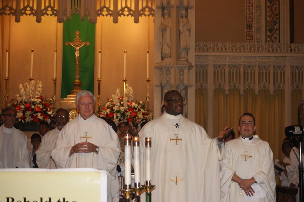 Fr. Irineu and Fr. Joseph Raeke, the Pastor