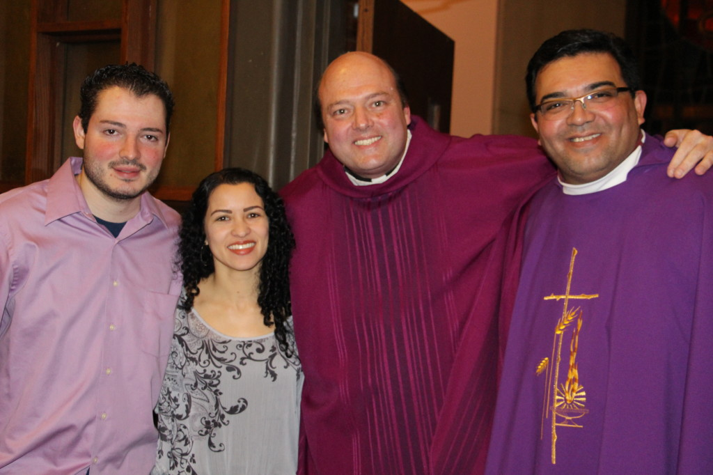 Dimas Jr., Renata, Fr. Mike and Fr. Eduardo