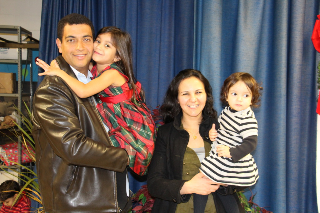 Junio and Elicilda Murca and their children Camila and Cecilia