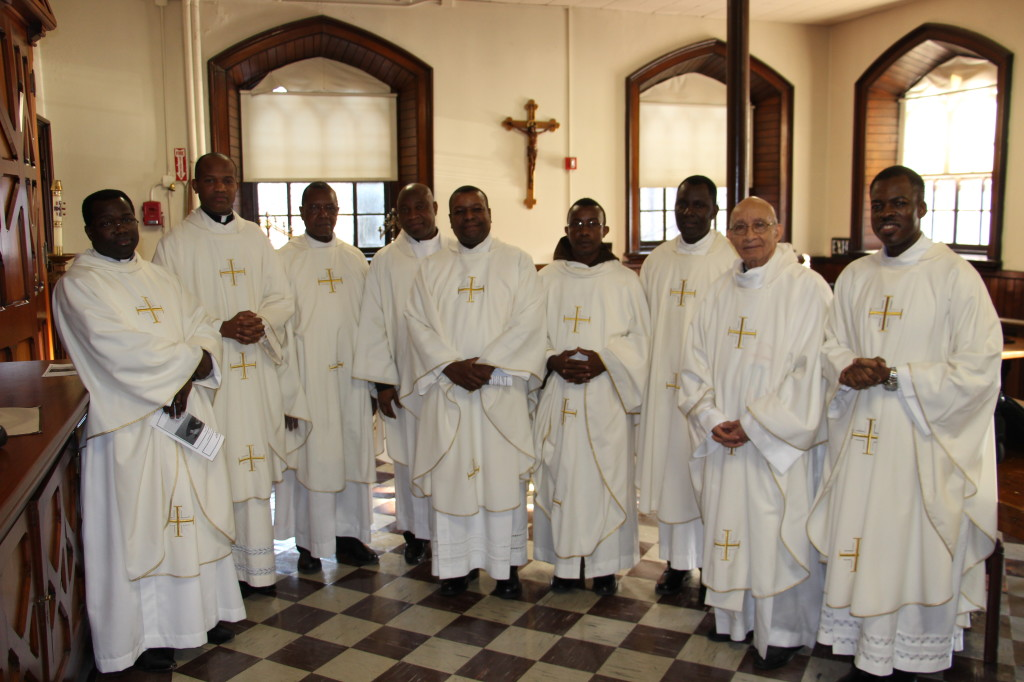 Most of the Haitian Priests in the Sacristy after Mass