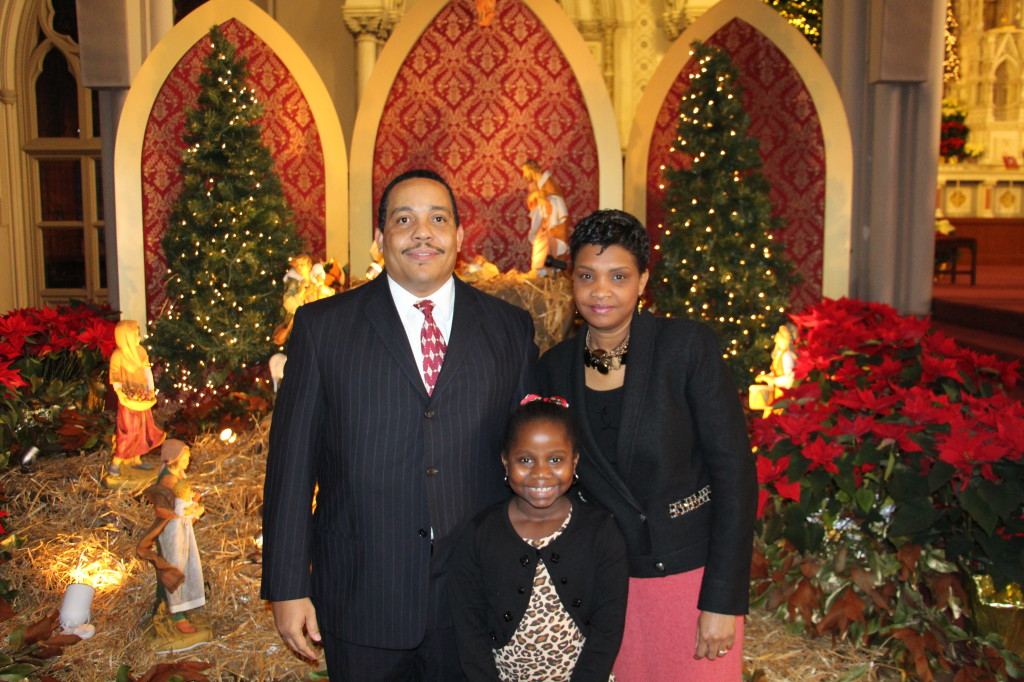 James and Michaelle Sylvestre and their daughter Sarah. They are part of the Haitian Charismatic Community of Waltham