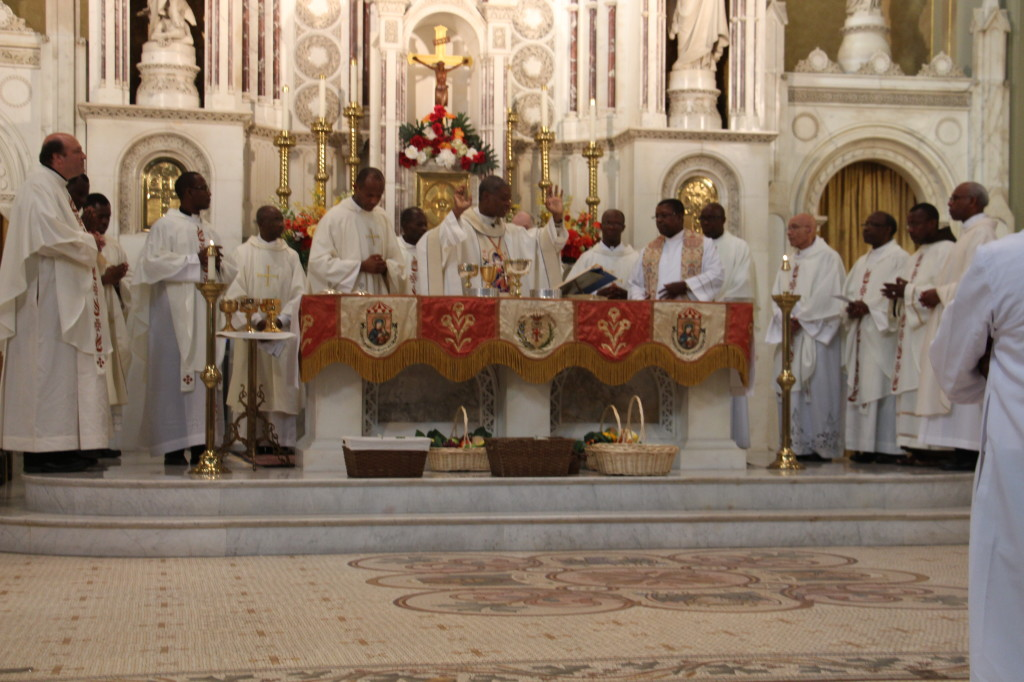 Holy Mass with Cardinal Langlois.