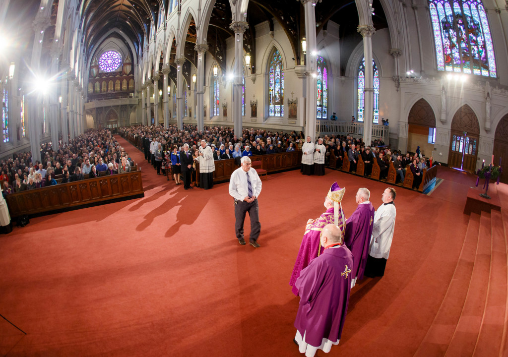 The 2015 Cheverus Awards Vespers service celebrated Nov. 29, the First Sunday of Advent at the Cathedral of the Holy Cross by Cardinal Sean P. O'Malley. Pilot photo/ Gregory L. Tracy